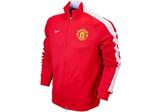 Nike Manchester United N98 Authentic Track Jacket - Diablo Red...available at SoccerPro.