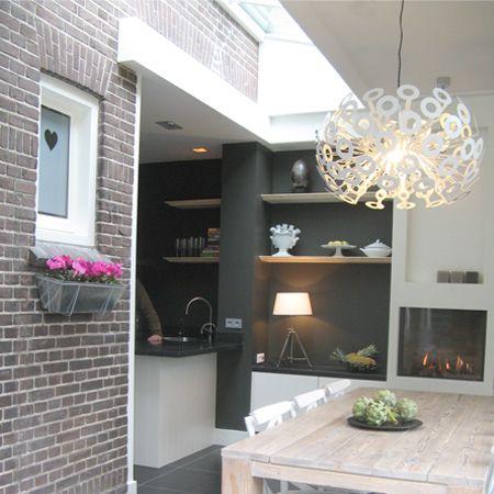 Uitbouw woonkeuken, Nieuwegein  (fijn detail: hartje in plakplastic)
