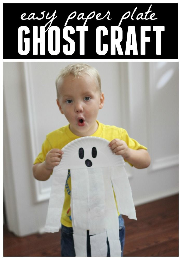 paper plate ghost craft for preschoolers