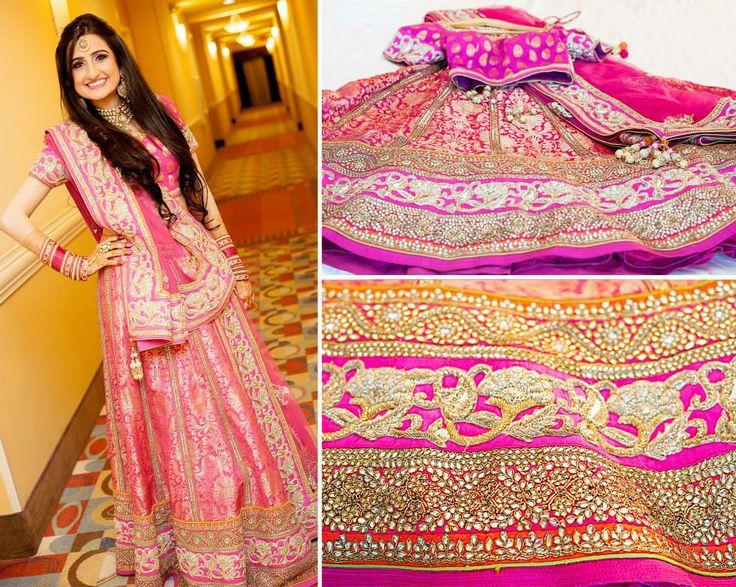 Bride- Sumedha Kshatriya Lehenga by Frontier Raas (South Extension, New Delhi)  Photo Courtesy- https://www.facebook.com/rushnakhanphotography