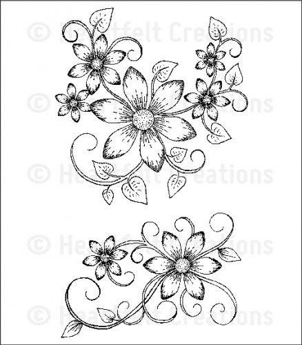 Heartfelt Creations | Sun Kissed Fleur Swirls PreCut Set