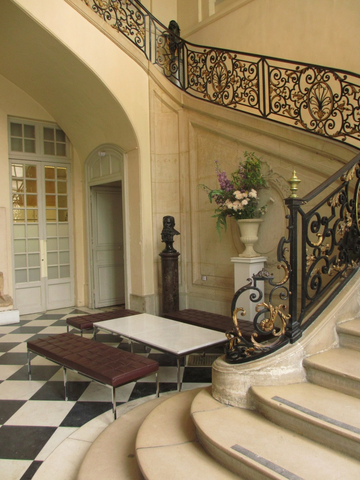 Staircase, Rodin Museum, Paris -- I fell asleep on one of those benches.