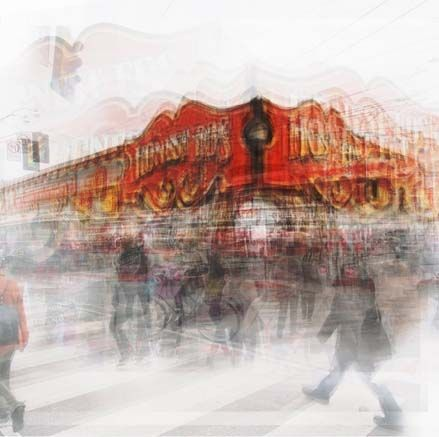 "Chris Albert, Honest Ed's, photography on panel wtih resin,  33""x33"", edition of 5. $1200"