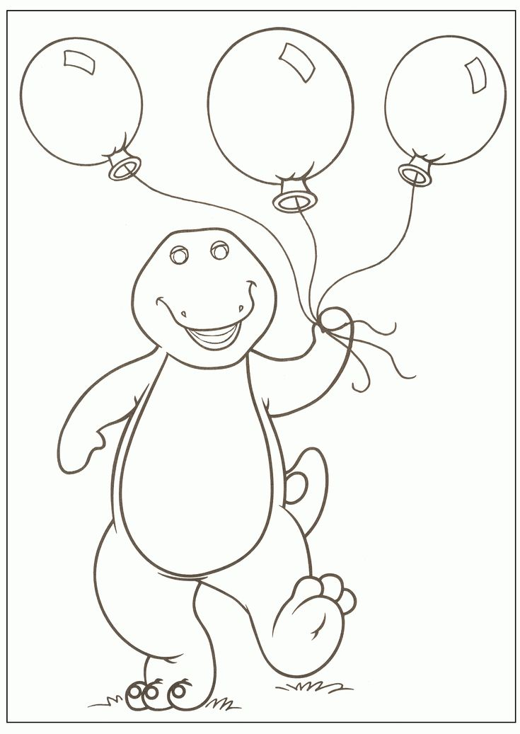 christmas barney coloring pages - photo#6
