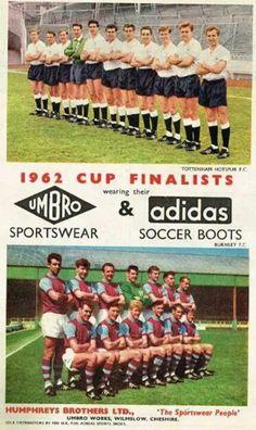 1962 Finalistas Copa FA Tottenham Hotspur Football Club Vs Burnley Football Club.