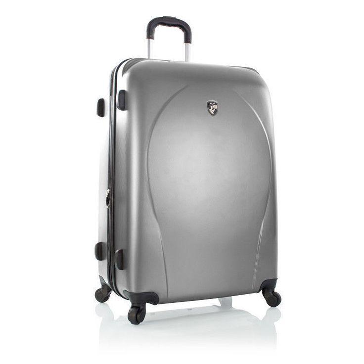"""Heys Xcase Luggage 30"""" Lightweight Suitcase Expandable Hardcase Spinner Silver"""