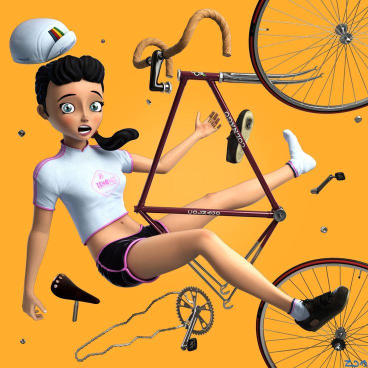 girl on bicycle #1