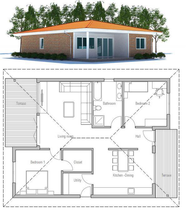 Modern Smallhouse Home: Tiny House Plan, Home Plan, House Plans #tinyhouse