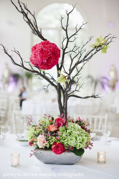 Floral & Decor, ikebana wedding flowers, indian wedding decor, exotic weddings, plenty to declare photography, orangery kew gardens, botanical gardens http://www.plentytodeclare.com/london-kew-gardens-wedding-of-sneha-farhaan/