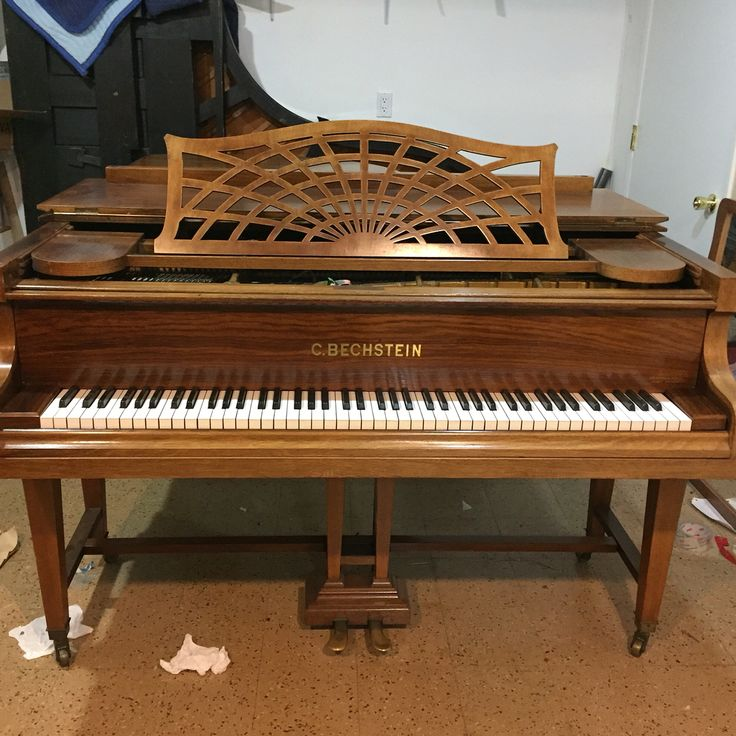 The Jiang's project: this C.BECHSTEIN #rosewood #piano will be completely #restored. It will be #gutted down to the #soundboard. #refinished #soundboard #restored #restrung