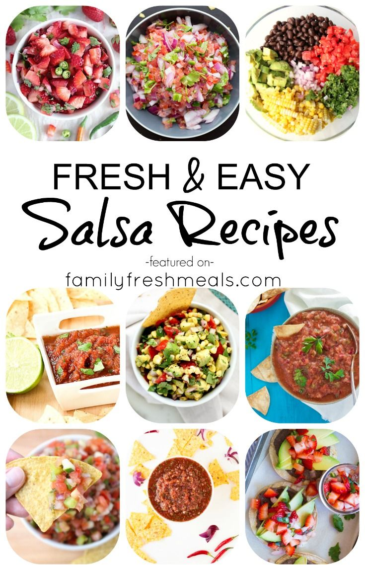 I rounded-upa bunch of easy homemade salsa recipes that you can make after a busy day at work, so you don't have to search endlessly for tasty recipes.