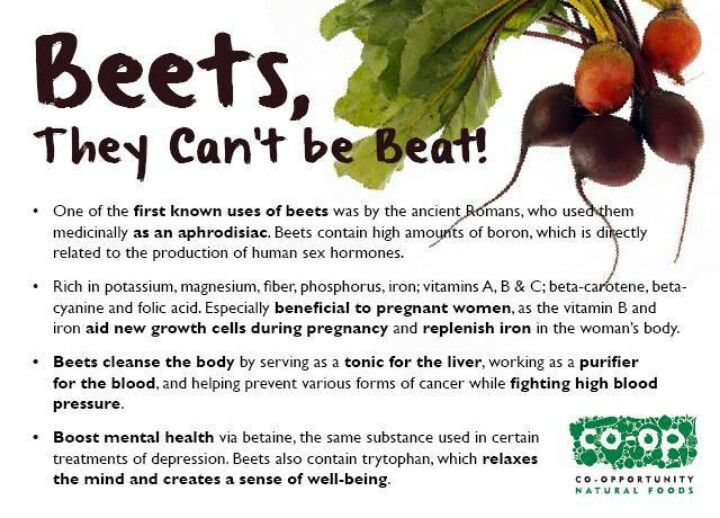 They Can't Be Beet - Health Benefits