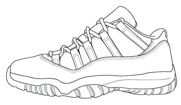 Jordan 11 Coloring Pages Sneakers Sketch Sneakers Illustration Air Jordans