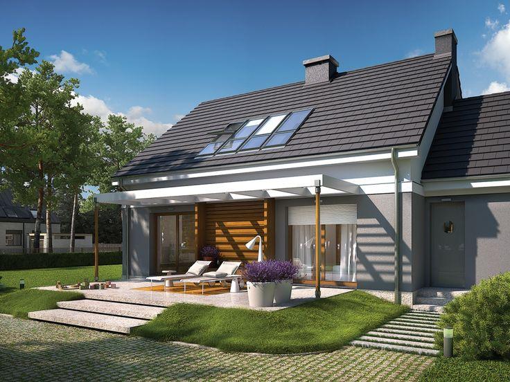 DOM.PL™ - Projekt domu AC Ariel G1 ENERGO CE - DOM AF6-74 - gotowy projekt domu