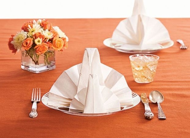 24 best napkin folding ideas images on pinterest napkin for How to fold napkins into turkeys