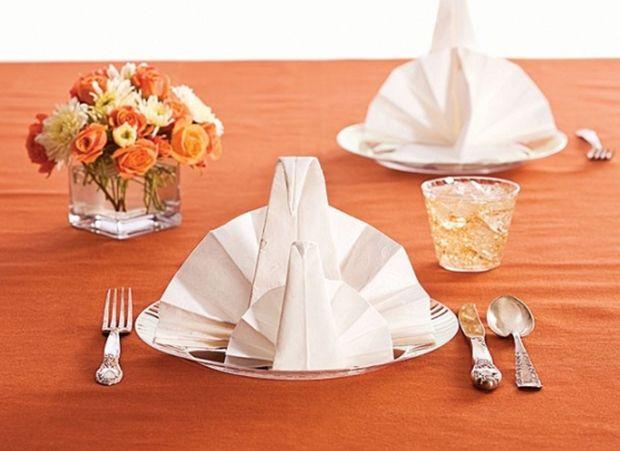 24 best napkin folding ideas images on pinterest napkin for How to fold napkins into turkeys