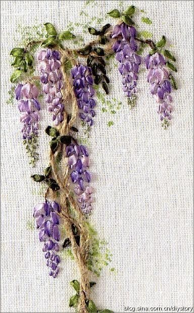 Ribbon embroidery . . . by anne