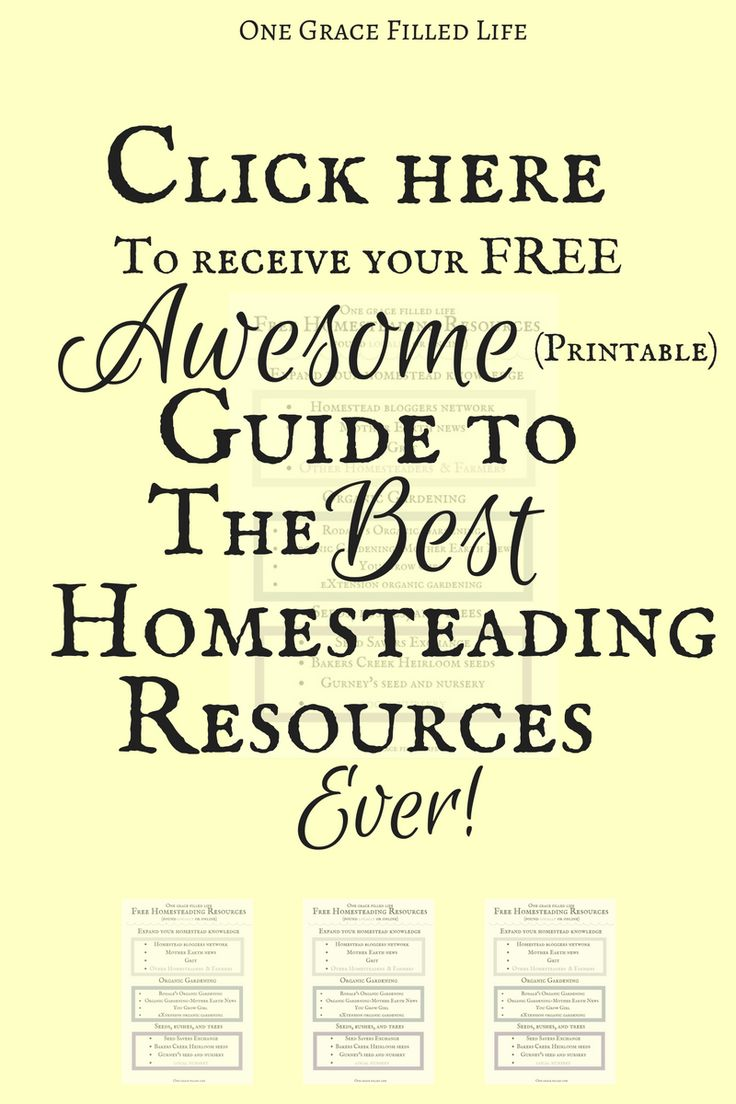 Great resources are hard to come by! Here is a free printable guide to some of the best homesteading resources out there! And it's printable!