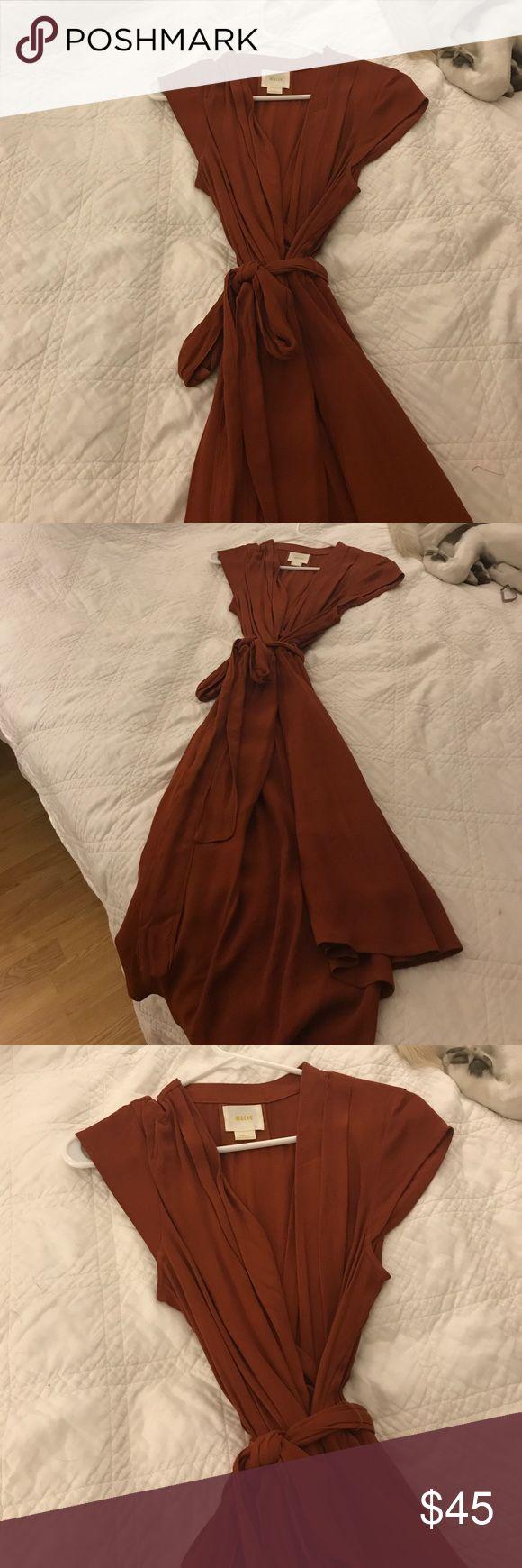 Maeve - Anthropology dress - burnt orange Maeve - Anthropology dress - burnt orange - wrap dress. Never been worn Anthropologie Dresses