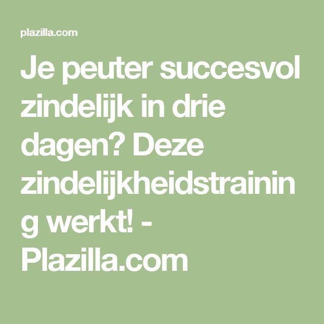 Je peuter succesvol zindelijk in drie dagen? Deze zindelijkheidstraining werkt! - Plazilla.com