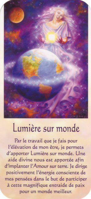 lumière sur monde + texte