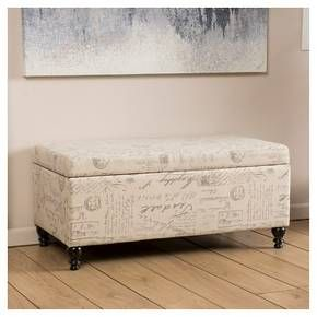 Christopher Knight Home Luke Fabric Storage Ottoman Bench - Beige