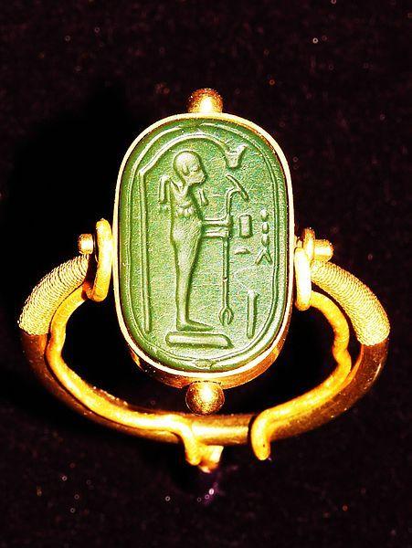 Egyptian ring from the tomb of King Tutankhamen