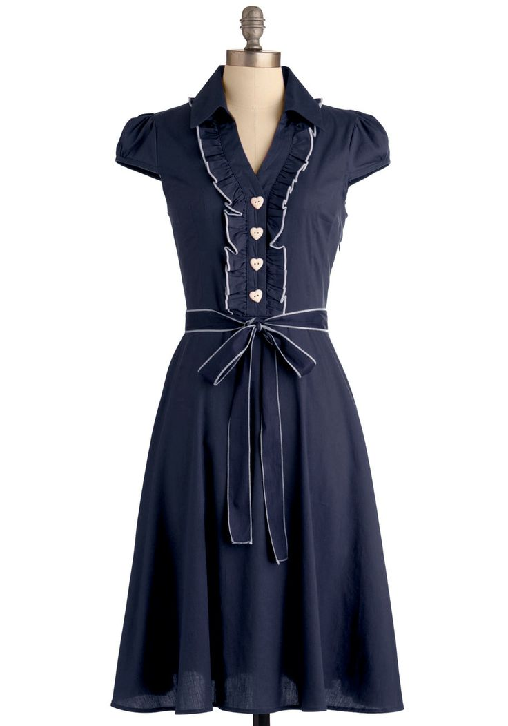 About the Artist Dress in Navy | Mod Retro Vintage Dresses | ModCloth.com Size Small