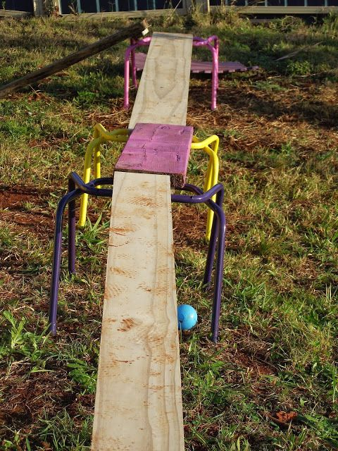 Mummy Musings and Mayhem: DIY Natural Playspaces - Chairs, Buses and Climbing Frames!