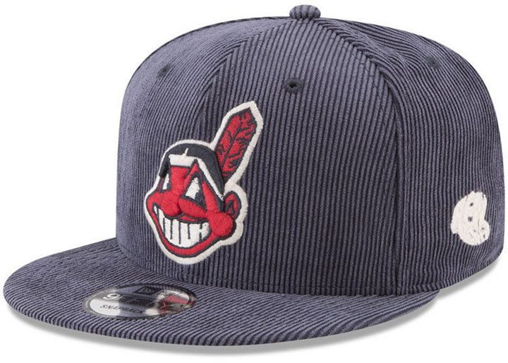 New Era Cleveland Indians All Cooperstown Corduroy 9FIFTY Snapback Cap