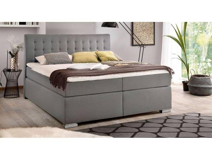 Klassisches Bettkasten Boxspringbett 180x200 Cm Grau Santera Bette 180x200 Be In 2020 Diy Bedroom Storage Storage Bench Bedroom Bedroom Storage For Small Rooms
