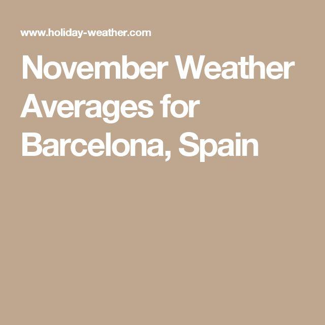 November Weather Averages for Barcelona, Spain