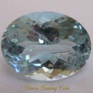 Batu Permata Light Blue Aquamarine Oval Cut 2.85 carat