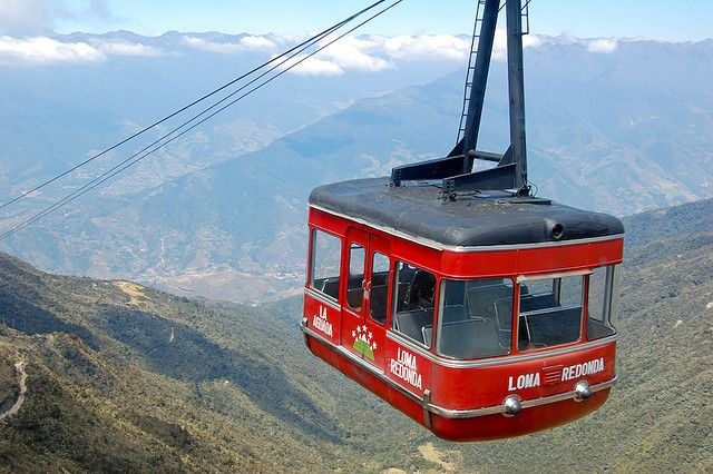 el teleferico - Merida, Venezuela - the worlds highest and longest cable car