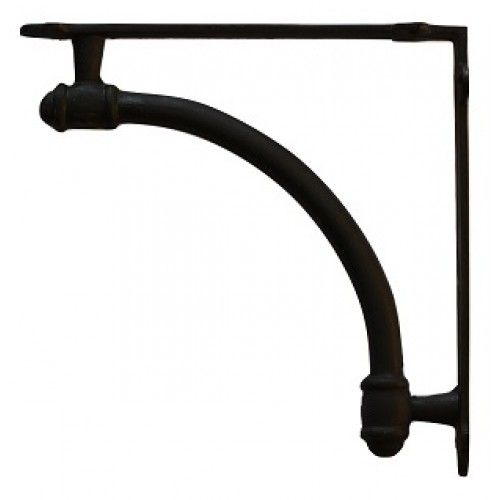 Large arched cast iron shelf bracket