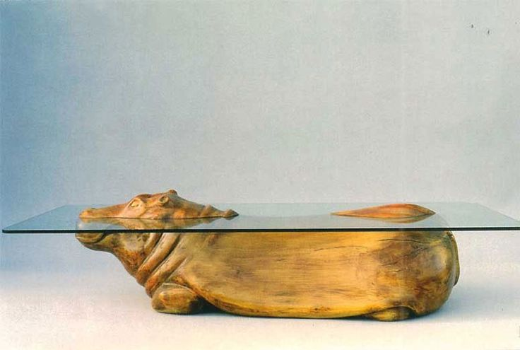 Amazing Coffee Tables Where the Glass is Water and the Base is an Animal «TwistedSifter