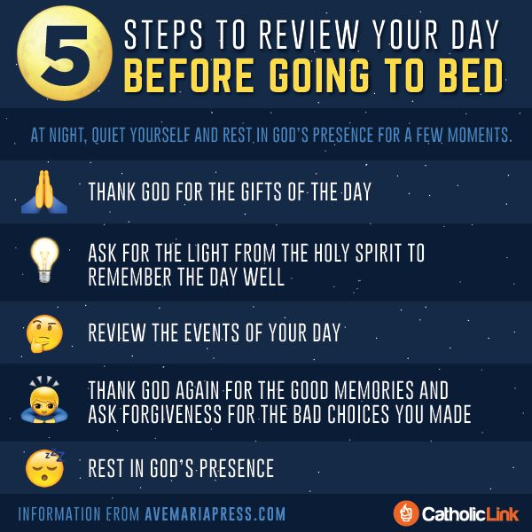 Catholic-Link's Library - Infographic: 5 steps to review your day before...