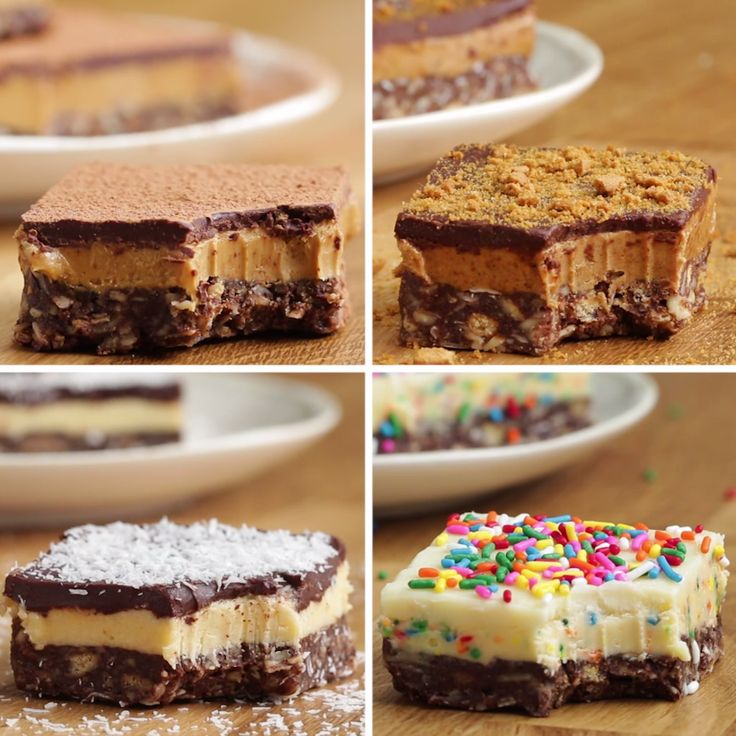 Nanaimo Bars Four Ways (Canadian Chocolate Bars)