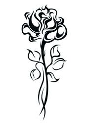 Tribal Black Rose Tattoo