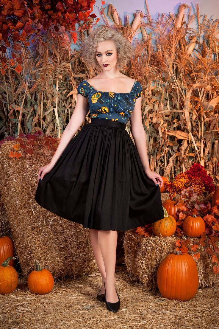 This is my favorite go-to black skirt: Pinup Couture Jenny Skirt in Black | Vintage Style Pleated Skirt | Pinup Girl Clothing