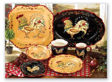 Country French Dinnerware My Favorite Dishes Pinterest