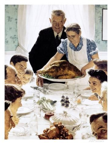 """""""Freedom From Want"""", March 6,1943 Giclee Print by Norman Rockwell at AllPosters.com"""