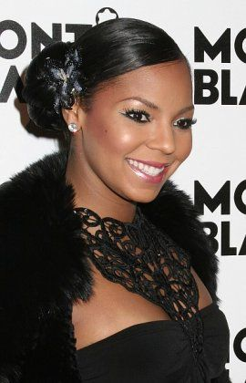 Ashanti Celebrity Event Updo Hairstyle H Amp M Trial Soon