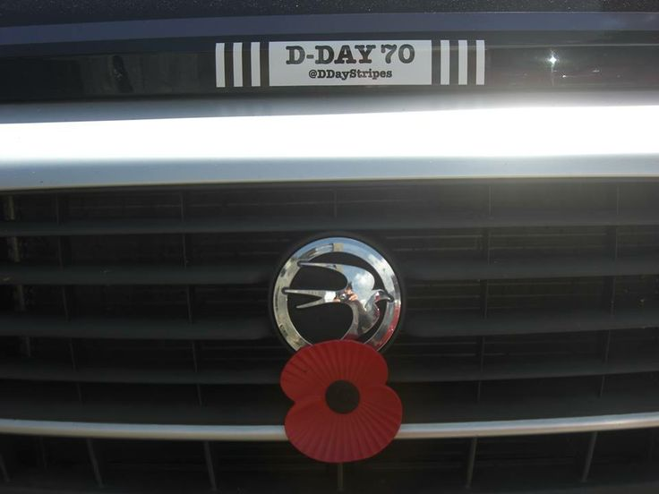 Elaine stuck her D-Day Stripes sticker onto her Camper Van. Bon Voyage, and thank you.