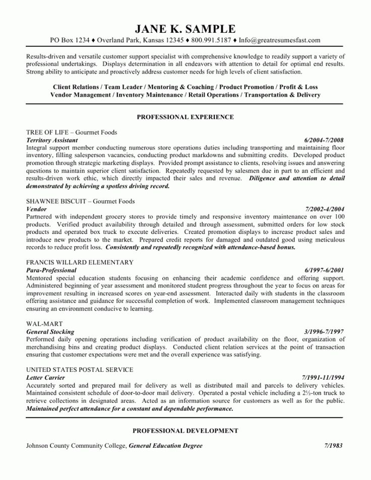 Writing Resume Samples | Sample Resume And Free Resume Templates