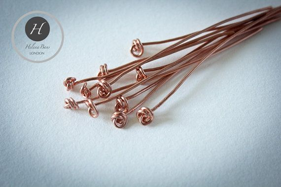 10 Knotted Head Pins hand by HelenaBausJewellery on Etsy