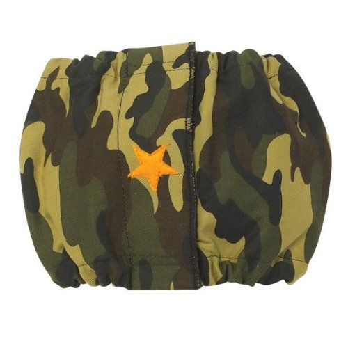 ClearQuest Cotton/Polyester Male K-9 Dog Wrap, X-Small, Star, Camo - This male k-9 wraps offer fashion and wetness protection in one package. Designed for habitual leg lifters and incontinent male dogs. Protects carpets, furniture and upholstery. Mad