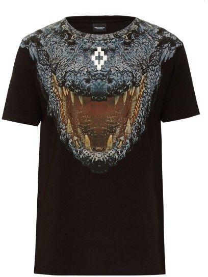 MARCELO BURLON Recoleta crocodile-print cotton T-shirt