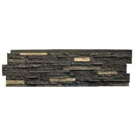 NextStone�Bedford Charcoal Stacked Stone Faux Stone Veneer Panels