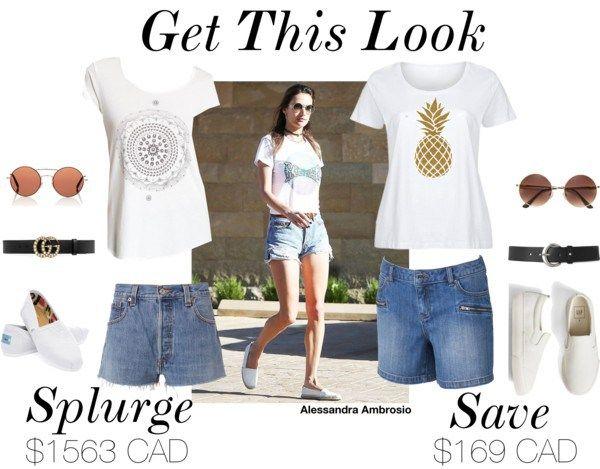 Alessandra Ambrosio - Save vs Splurge. Get this look!